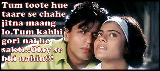kajol n Shahrukh in KKHH