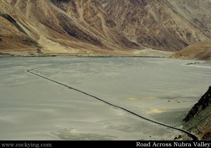Road Across Nubra Valley