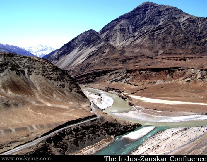 Confluence of Indus River and Zanskar