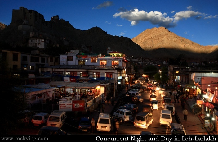 Concurrent Night and Day in Leh-Ladakh